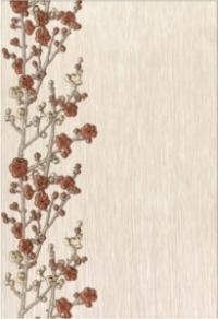 Керамическая плитка Керамин Сакура 1 декор веточки