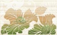Керамическая плитка Нефрит Кензо фисташковый декор 01