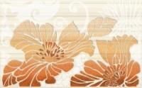 Керамическая плитка Нефрит Кензо терракотовый декор 01