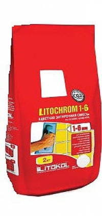 Затирка Litochrom 1-6 C.40 антрацит 2 кг