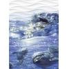 Керамическая плитка Церсанит Вэйв Панно дельфины