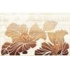 Керамическая плитка Нефрит Кензо коричневый декор 01