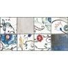Керамическая плитка Нефрит Лофт синий с рисунком