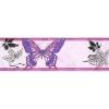 Керамическая плитка Сокол Баттерфляй бордюр №613 розовый