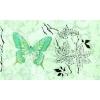 Керамическая плитка Сокол Баттерфляй Декор 612 dAR7 зеленый