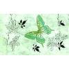 Керамическая плитка Сокол Баттерфляй Декор 612 fAR7 зеленый