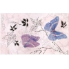 Керамическая плитка Сокол Баттерфляй Декор 613fAR3 розовый
