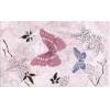 Керамическая плитка Сокол Баттерфляй Декор 613вAR3 розовый