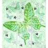 Керамическая плитка Сокол Баттерфляй Панно 612 AR7 6 шт-комплект зеленый